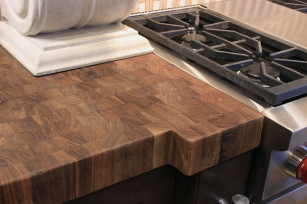 Walnut End Grain 2 San Diego - The Countertop Company